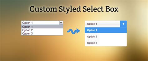 design form select how to custom style a select box with form value support