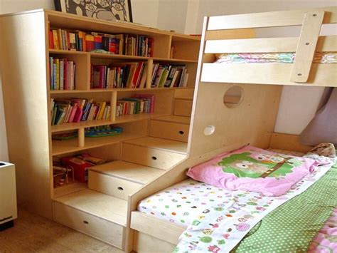 bunk bed with shelves shelves ideas easy to make bookshelves with bunk bed for stroovi tattoos