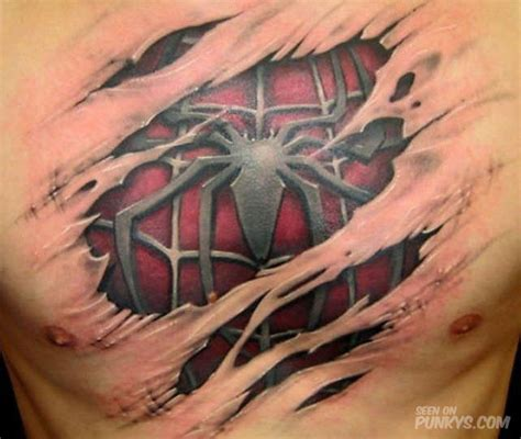 cool 3d spiderman tattoo design tattoos