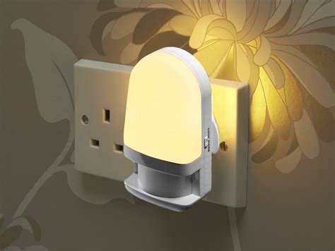 led plug in night light auraglow automatic plug in colour changing led night light