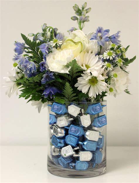 ideas for centerpieces to make diy floral hanukkah centerpiece idea petal talk