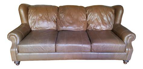 Henredon Leather Sofa Chairish Henredon Leather Sofa