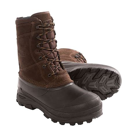 lacrosse pine top womens brown leather insulated
