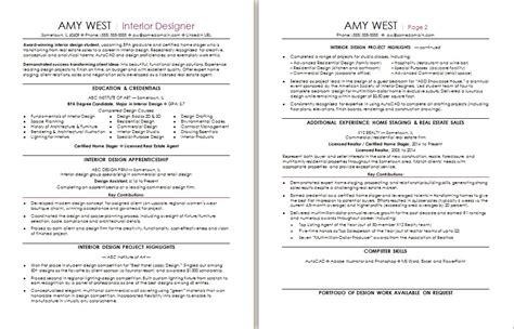 interior design resume sle real resume exles career advice 28 images cna
