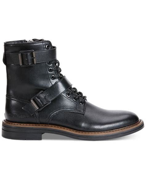 buckle boots for calvin klein everest buckle boots in black