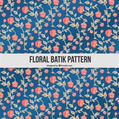 batik pattern free download hand drawn batik floral pattern vector free download
