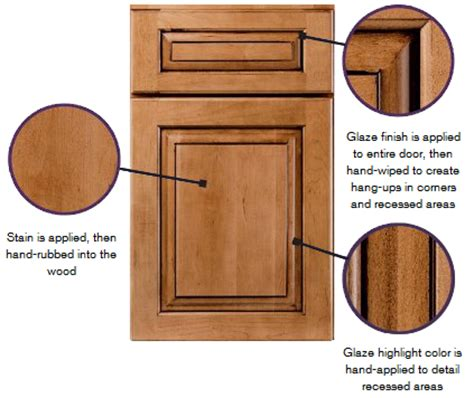 glaze kitchen cabinets stain stain with glaze finishes kraftmaid cabinetry