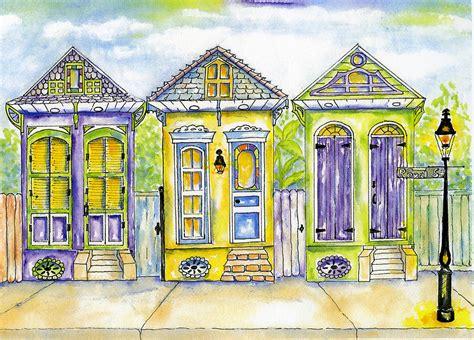 Shotgun Houses Painting By Catherine Wilson House Artist