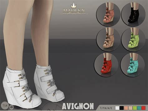 sims 4 shoes the sims resource mj95 s madlen avignon boots