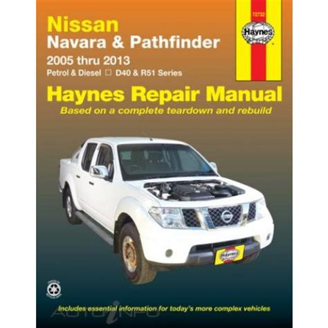 haynes manual nissan navara pathfinder 2005 2013 72732