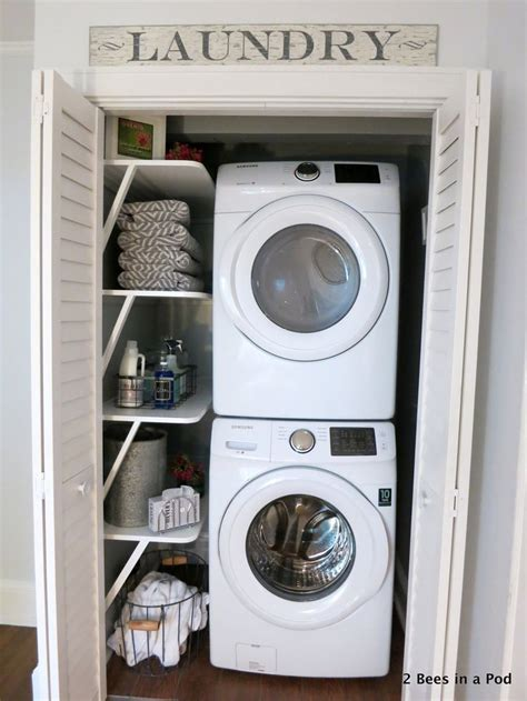 Laundry Hers For Small Spaces Best 25 Small Laundry Closet Ideas On Laundry Room Small Ideas Small Laundry Area