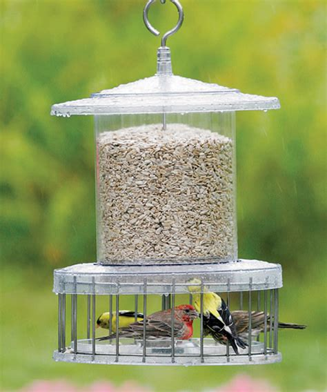 duncraft com all weather feeder with wire cage