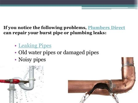 Plumbing Problems Noisy Pipes by Do You A Burst Water Pipe Or Water Leaking Problems