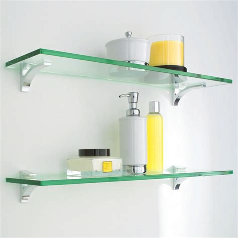 Floating Glass Shelves for Bathroom   Interior Designs, Architectures and Ideas