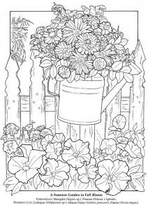 Summer Flowers  Adult Coloring Pages Pinterest sketch template