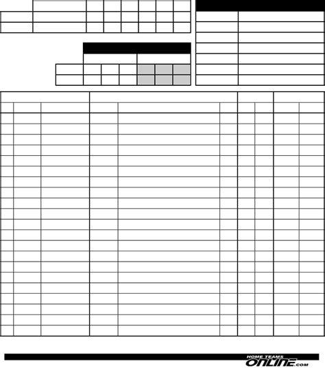 football score sheet football scoresheets 2 teams for free