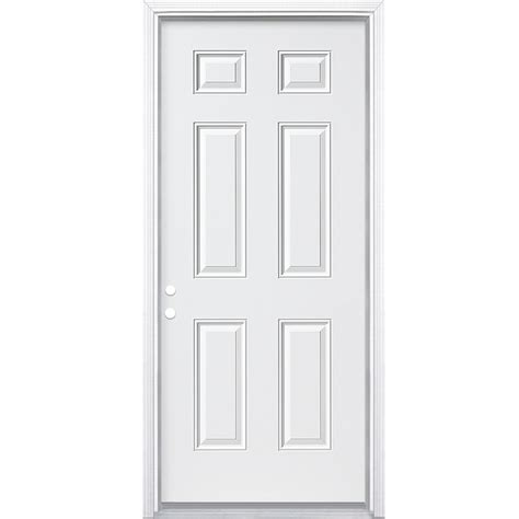 shop exterior doors shop reliabilt 6 panel insulating right inswing