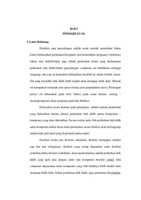 laporan praktikum tentang membuat larutan laporan praktikum destilasi sederhana