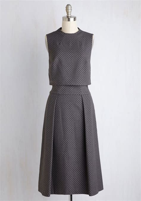 Set Dea Polka lush with dress in garden grey two dress and polka dots
