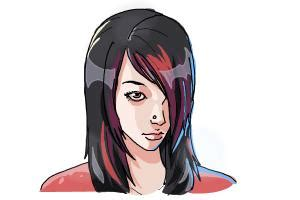 step by step emo hair how to draw emo hair drawingnow