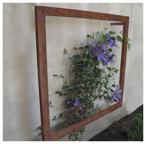Contemporary Garden Decor Ina Wall Trellis Jr Contemporary Outdoor Decor By Terratrellis