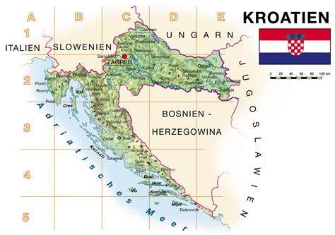 karte kroatien kueste