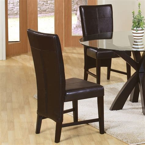 Faux Leather Parsons Dining Room Chairs by Dreamfurniture 100972 Shoemaker Faux Leather Parson