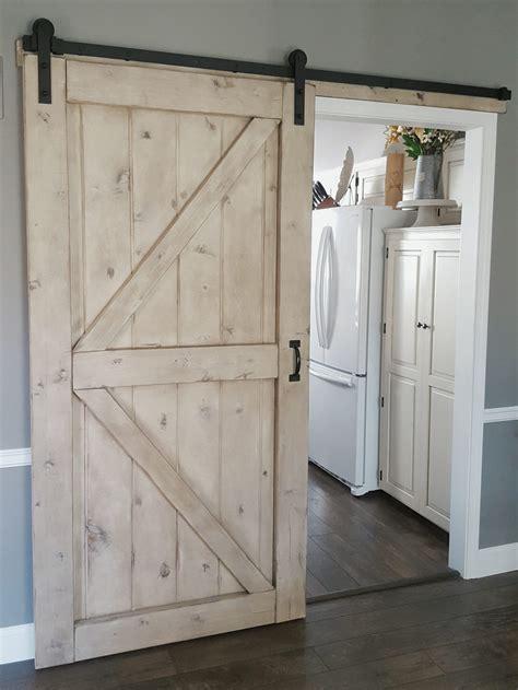 Barn Door Company Barn Door Gray Wash Sliding 2 Panel Z Style Walston Door Company