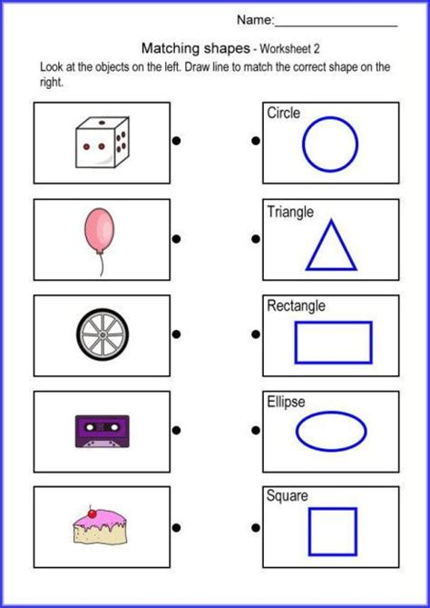 Matching For And - free worksheets 187 shape matching worksheets free math