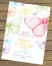 Butterfly Invitation Template by Rainbow Butterfly Birthday Invitation Butterfly Birthday
