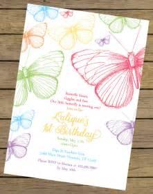 butterfly invitation template rainbow butterfly birthday invitation butterfly birthday