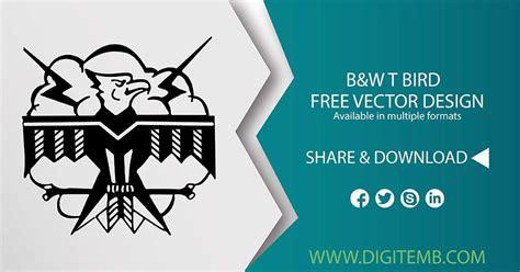 stunning bw  bird vector design digitemb