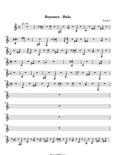 printable halo lyrics beyonce halo sheet music beyonce halo score