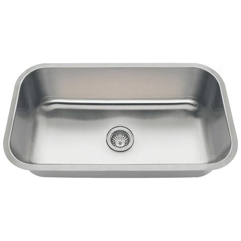 Stainless Steel Single Bowl Undermount Kitchen Sink by Mr Direct Undermount Stainless Steel 32 In Single Bowl