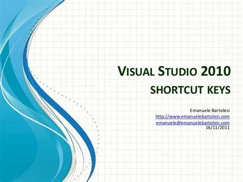 website tutorial visual studio 2010 visual studio 2010 shortcut keys