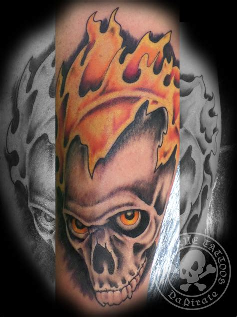 flaming skull tattoo flaming skull tattoos www imgkid the image kid has it