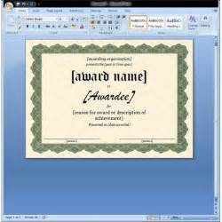 Award Certificate Template Microsoft Word by Certificate Of Appreciation Template In Word