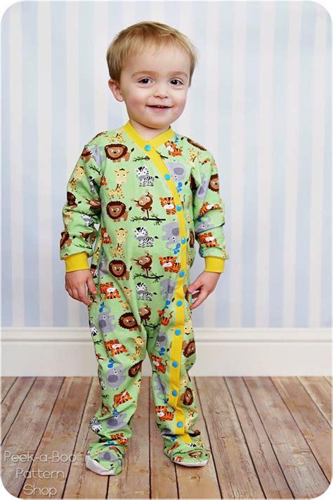 snap pajamas new lullaby line snap pajamas peek a boo pages sew