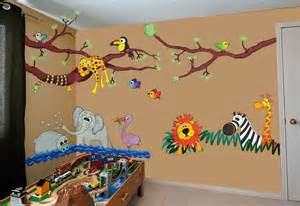 wild jungle hangout theme wall sticker kit has attractive animal train transport stickerscape