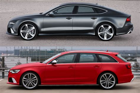 audi rs wagon totd pick one audi rs 7 hatch or rs 6 wagon