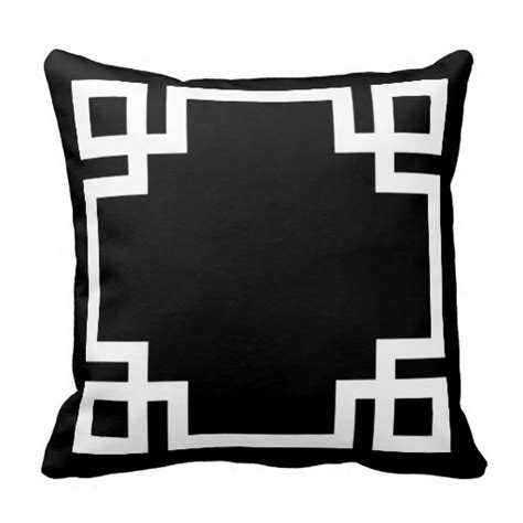 Black And White Pillows by Black And White Key Throw Pillows
