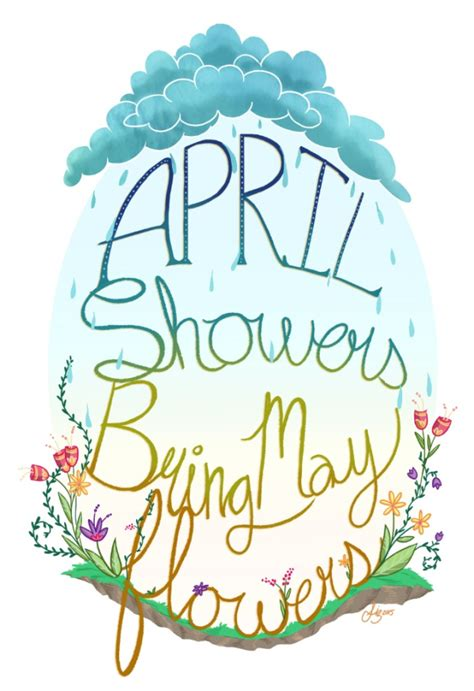 april showers clipart april showers may flowers clip