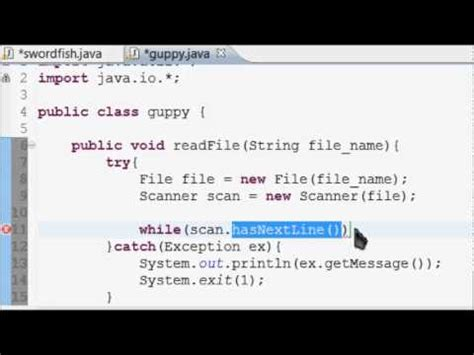 tutorial java try catch java basic programming tutorial 11 file reading and try
