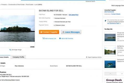 Jual Nes V Batam wagub kepri tegaskan penjualan pulau tindakan ilegal