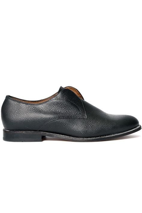 Charly Leather Slip On hudson may black leather slip on at sue parkinson