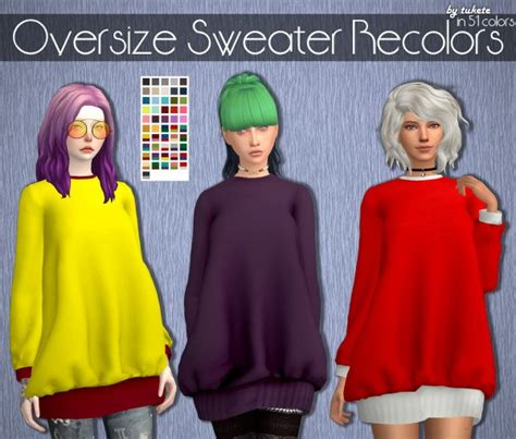 oversized sweater sims 4 cc tukete oversize sweater recolors sims 4 downloads