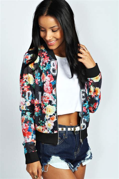 Jaket Bomber Wanita Pink Jaket Bomber Wanita Polos boohoo cleo floral bomber jacket where to buy how to wear