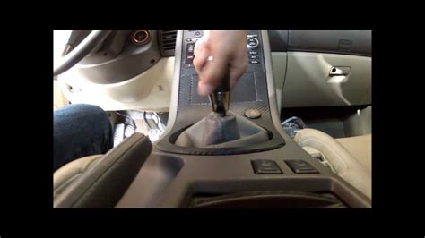 How To Remove Shift Knob by Diy G35 Manual Shift Knob Remove Removal