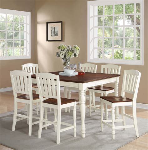 counter dining room sets ramona white counter height dining set dining room sets