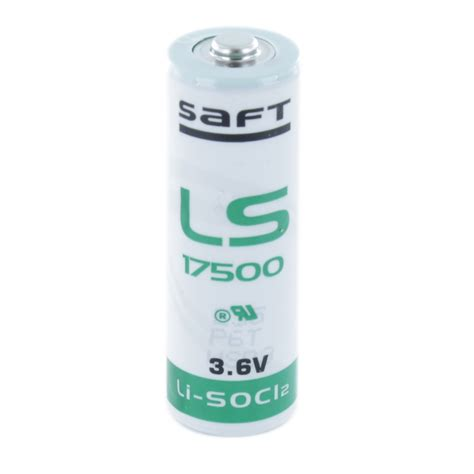 Battery Saft Ls 17500 3 6v saft ls17500 a lithium battery cell pack solutions